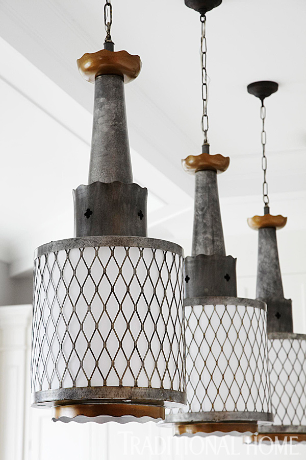 Vintage Metal Light Fixtures from ScoutChicago.com, Buckingham Interiors + Design