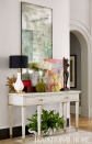 Grand Foyer with Antiqued Mirror, Colorful Accessories, Loren Taylor Interior Design, LLC