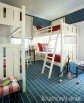 Bunk Room with Classic Blue-and-White Palette
