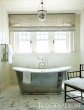 Master Bath with Shiplap Siding & Antiqued Nickel Soaking Tub