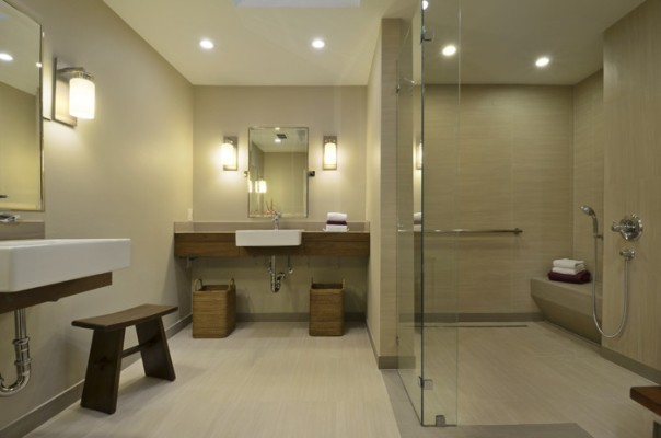Elegant Universal Design Bathroom by Custom Home