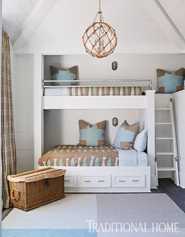 Bunk Room with One Full-sized Bed, Five Twins, Mary McWilliams