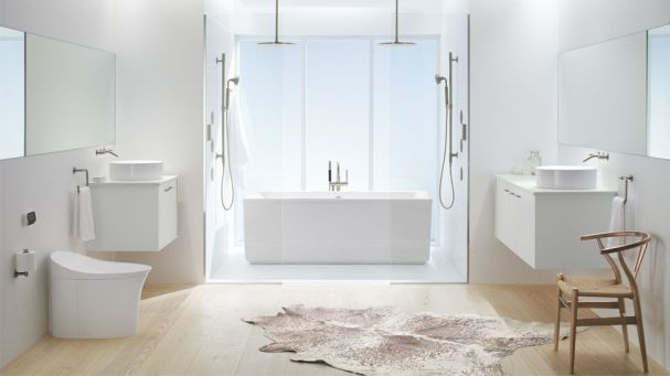 Veil Intelligent Skirted One-Piece Elongated Dual-Flush Toilet, Kohler