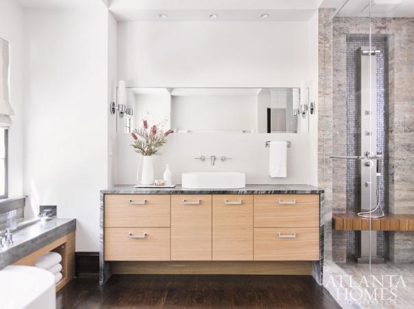 Modern Master Bathroom, Rothman + Rothman