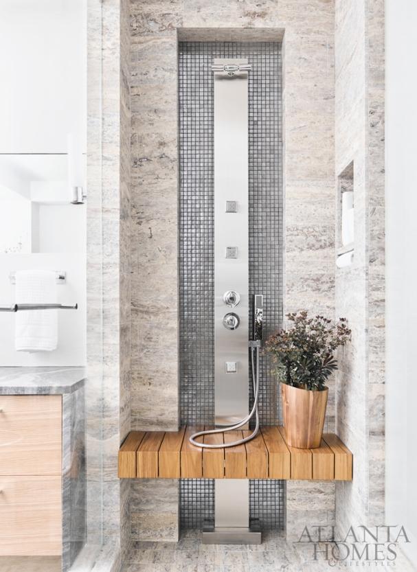 Luxury Modern Shower, Rothman + Rothman