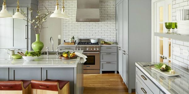 Lively Gray Open Kitchen, Angie Hranowsky