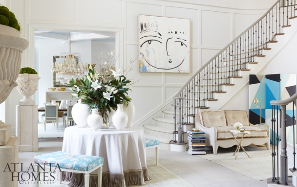 Grand Foyer with Luxurious Details, Melanie Turner Interiors