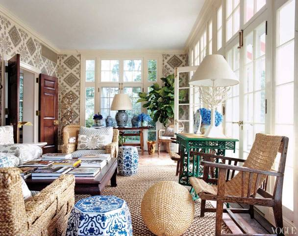 Sunroom with Wall of Windows, Vogue