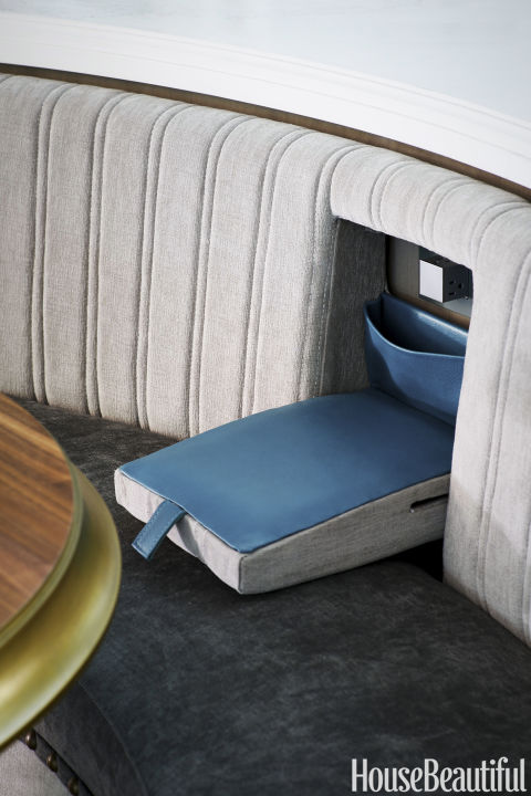 Kitchen of the Year 2016, Hidden Charging Station Built-Into the Banquette