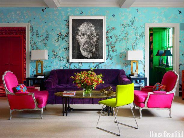 Accent Purple Added through Furnishings-Purple Velvet Sofa