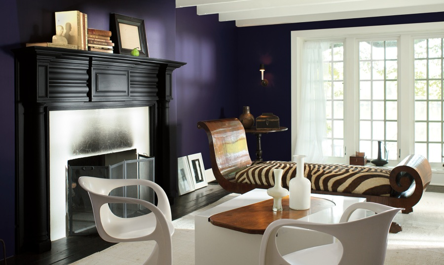 Commanding Great Room, Color of the Year 2017, Shadow, Benjamin Moore