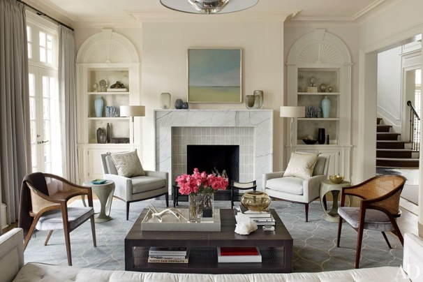 Living Room with Darks & Neutrals, Russell Groves Architect