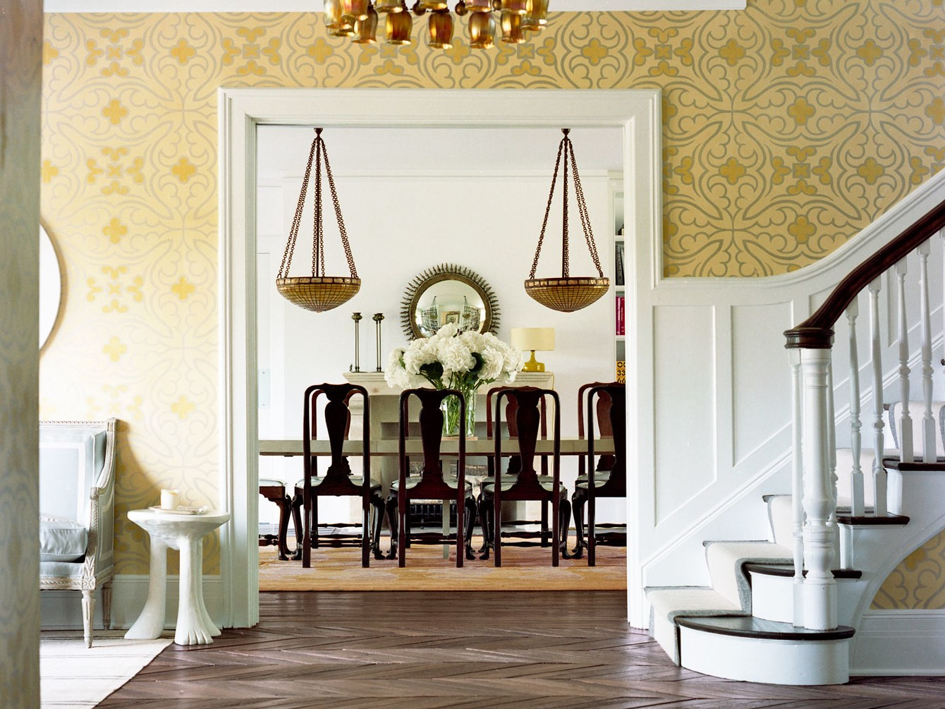 home-remodeling-trends-2017-arts-crafts-home-by-reed-and-delphine-krakoff-adlorettajwillisCirca-1917 Arts & Crafts Home, Elegantly Restored Entry by Reed & Delphine KrakoffDrawing Room with Restored Grid-Pattern Millwork, Reed & Delphine KrakoffVintage Love Seats Anchor this Living Room, Reed & Delphine KrakoffNew Kitchen Cabinetry, Vintage Holophane Pendant Lights and Sink Fittings Fit the Era of this Home, Reed & Delphine KrakoffStunning Master Bath with Furniture-style Cabinetry, Carrara Marble Basket-weave Mosaic Dotted with Black Marble, Lauren DeLoach