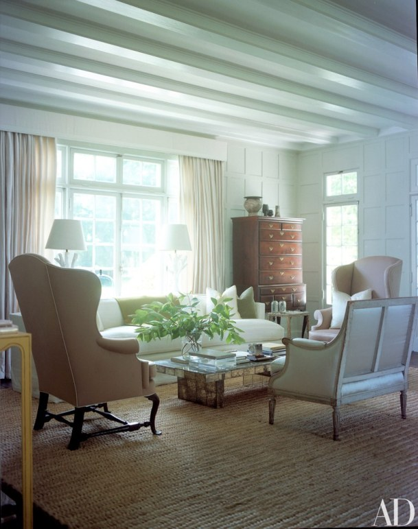 Drawing Room with Restored Grid-Pattern Millwork, Reed & Delphine Krakoff