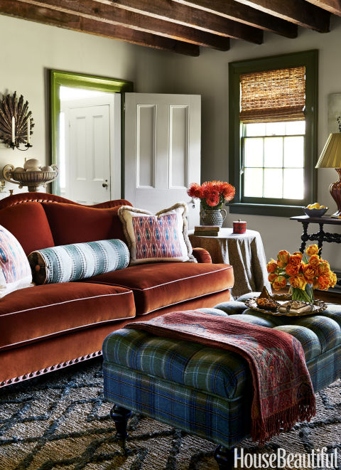 This Living Room Sofa Anchors this Room with a Great Throw Nearby, Suysel dePedro Cunningham & Anne Maxell Foster