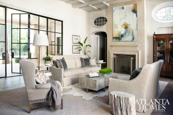 Layered Flooring, Accessories and Lighting Invite Warmth, Sherry Higgins
