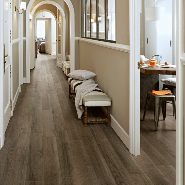Elegant & Casual Hallway with Luxury Vinyl Tile Planks, Mannington Residential