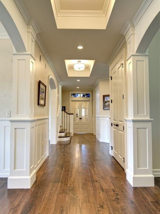 Elegant Hallway Displays Walnut Hardwood Floors, Shop 4 Floors