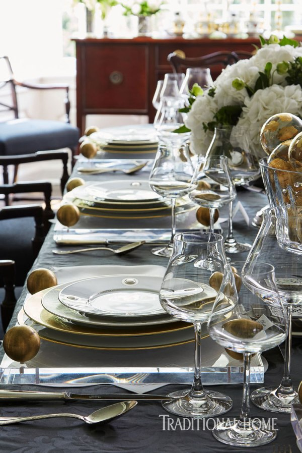 Festive Tabletop with Metallic and Shimmery Fabric, Megan Winters