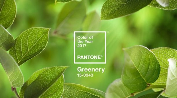 color of the year pantone-greenery