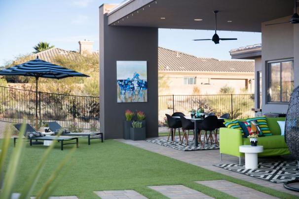 hgtv smart home 2017, back yard