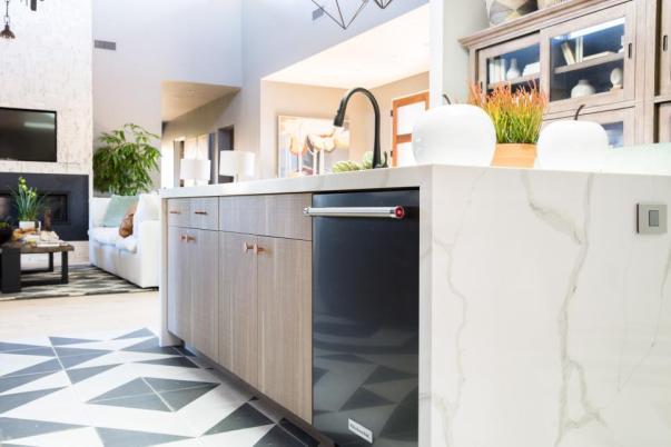 hgtv smart home 2017, kitchenaid dishwasher, quartz countertop