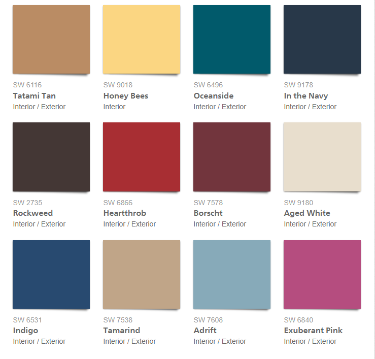 color trends 2018, sherwin-williams colormix forecast 2018