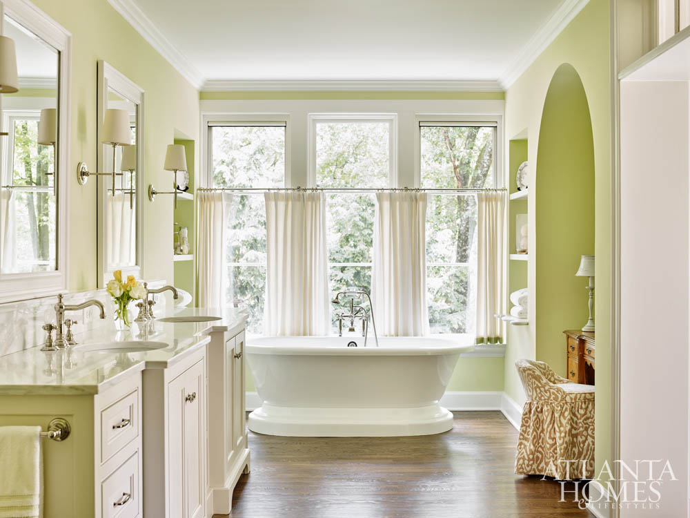 luxury bath trends 2018-pale green MB w-hardwood floors, marble countertops-Liz Williams Interiors-AHLlorettajwillisluxury bath trends 2018, natural stoneluxury bath trends 2018, flooring trendsluxury bath trends 2018, flooring trendsluxury bath trends 2018, natural stone trendsluxury bath trends 2018luxury bath trends 2018, cabinet color finishes