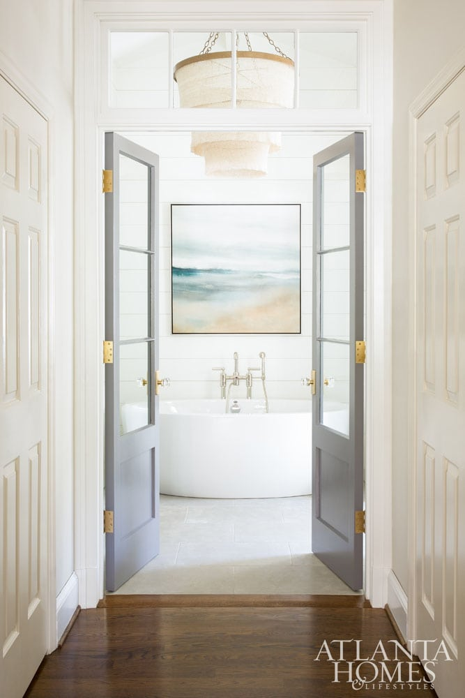 luxury bath trends 2019-entrance, french doors, robin burnett design, AHLlorettajwillisluxury bath trends 2018-2019, bath of the yearluxury bath trends 2018-2019, bath of the year