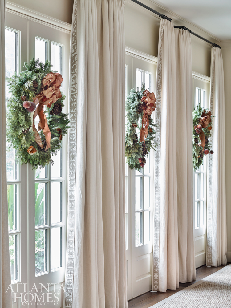 design trends-holiday tables-french doors w-wreaths, Lyane T. Rankin-AHLlorettajwillisholiday trends, decorating trends 2019holiday trends 2018-2019holiday trends 2018-2019holiday trends 2018-2019holiday trends 2018-2019