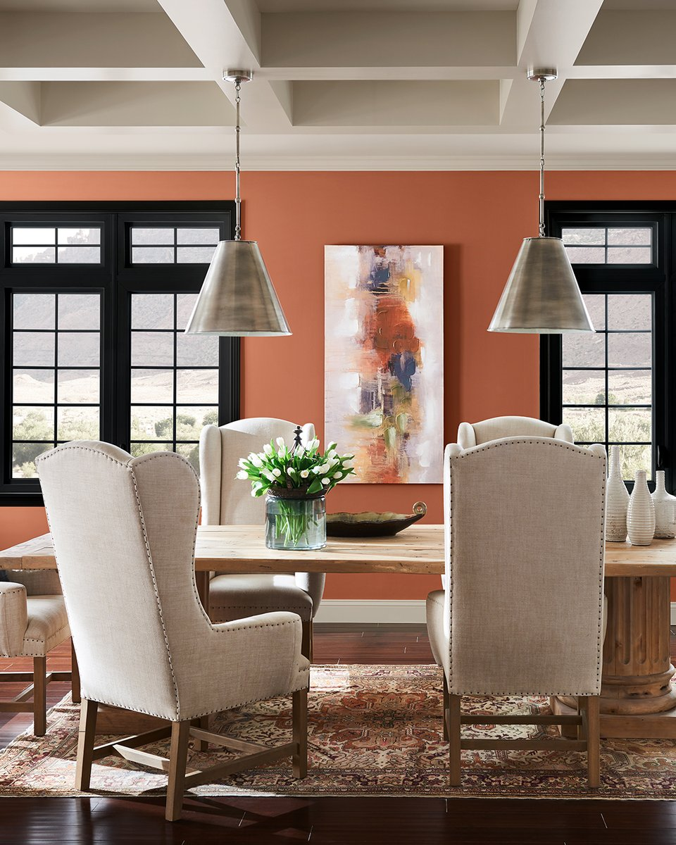 color of the year 2019-sw-cavern clay-dining room-sherwin williamslorettajwilliscolor trends 2019, cavern claycolor trends 2019, cavern claycolor trends 2019, cavern clay